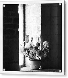 Uncolored Flowers Acrylic Print