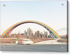 Under Rainbow Acrylic Print by Andy Brandl