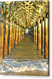 Under The Boardwalk Acrylic Print by Eve Spring