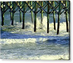 Under The Boardwalk Acrylic Print by Karen Wiles