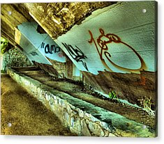 Under The Bridge Acrylic Print by Steven Ainsworth