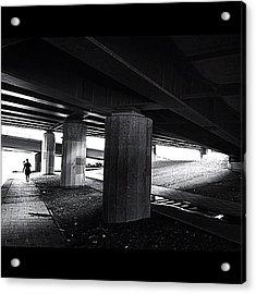 Under The Bridge#bw# #walk #light Acrylic Print