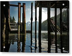 Under The Dock Acrylic Print by Janet Kearns