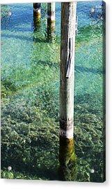 Under The Docks Acrylic Print by Sheryl Burns