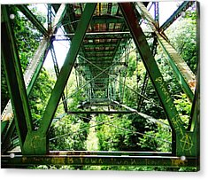 Under The Green Bridge Acrylic Print
