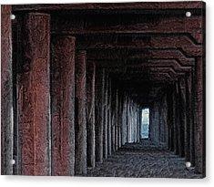 Under The Pier 2 Acrylic Print by Ernie Echols