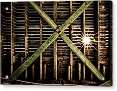Under The Pier Acrylic Print by Christopher Holmes