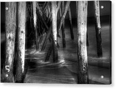Under The Pier Acrylic Print by Paul Ward