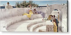 Under The Roof Of Blue Ionian Weather Acrylic Print by Sir Lawrence Alma-Tadema