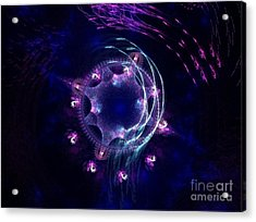 Under The Sea - Fractal Acrylic Print