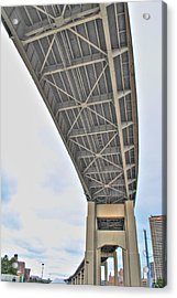 Acrylic Print featuring the photograph Under The Skyway by Michael Frank Jr
