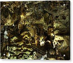 Underground Cave Acrylic Print by Martin Marinov