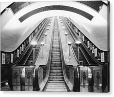 Underground Escalator Acrylic Print by Archive Photos