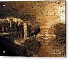 Underground Lake. Luray Caverns Va Acrylic Print by Ausra Huntington nee Paulauskaite