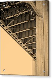 Underside Of 6th Street Bridge Acrylic Print by Kevin  Break