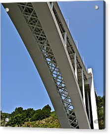 Acrylic Print featuring the photograph Underside Of Beautiful Bridge by Kirsten Giving