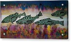 Underwater Color Acrylic Print by Carolyn Doe