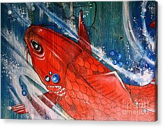 Acrylic Print featuring the painting Underwater Love by Sandro Ramani