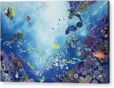 Underwater World IIi Acrylic Print by Odile Kidd