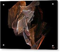 Acrylic Print featuring the digital art Unfolding by John Pangia