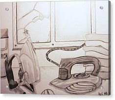 Unfortunate Accident Acrylic Print by Raul Martinez