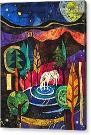 Unicorn Acrylic Print by Sandra Kern