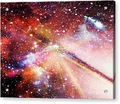 Unidentified Planet Acrylic Print by Fania Simon
