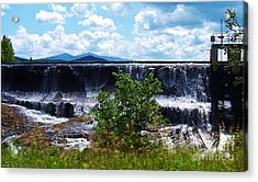 Union Falls  Acrylic Print by Peggy Miller