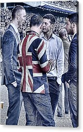 Acrylic Print featuring the photograph Union Jacks Ablaze At Ascot by Jack Torcello