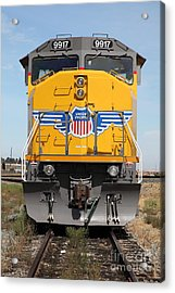 Union Pacific Locomotive Train - 5d18636 Acrylic Print by Wingsdomain Art and Photography