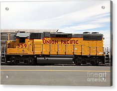 Union Pacific Locomotive Train - 5d18648 Acrylic Print by Wingsdomain Art and Photography