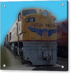 Union Pacific X 18 Train Acrylic Print by Thomas Woolworth