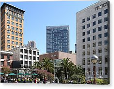 Union Square San Francisco Acrylic Print by Wingsdomain Art and Photography