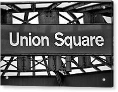 Union Square  Acrylic Print by Susan Candelario