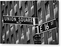 Union Square West Acrylic Print by Susan Candelario
