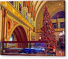 Acrylic Print featuring the photograph Union Station Christmas by William Fields