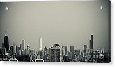 Unique Buildings In Chicago Skyline   Acrylic Print