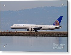 United Airlines Jet Airplane At San Francisco International Airport Sfo . 7d12129 Acrylic Print by Wingsdomain Art and Photography