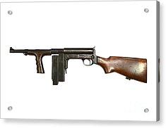 United Defense M42 Submachine Gun Acrylic Print by Andrew Chittock
