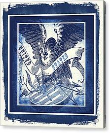 United States Blue Acrylic Print by Angelina Vick