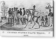 United States Slave Trade Acrylic Print by Photo Researchers