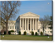 Acrylic Print featuring the photograph United States Supreme Court by Steven Richman