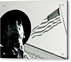 United We Stand Theme Acrylic Print by Syed Aqueel