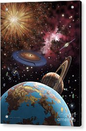 Universe II Acrylic Print by Lynette Cook