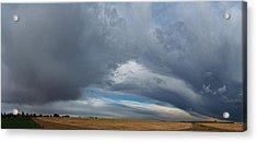 University Farm Clouds Acrylic Print