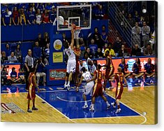 University Of Kansas Jeff Withey Acrylic Print