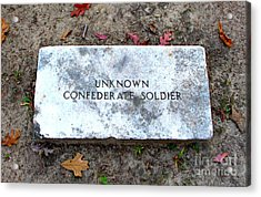 Unknown Confederate Soldier Acrylic Print by Renee Trenholm