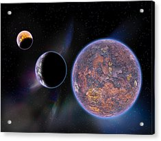 Unknown Worlds Acrylic Print by Barry Jones