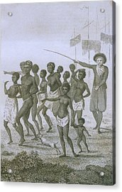 Unloading Of Enslaved Africans In Dutch Acrylic Print by Everett