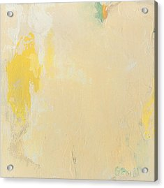 Untitled Abstract - Bisque With Yellow Acrylic Print
